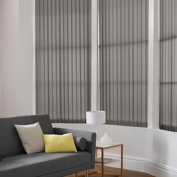 Living Room Vertical Blinds Hull