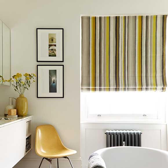 Stripped roman blinds near Hull